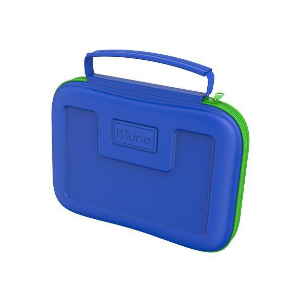 Blauwe kurio reiskoffer