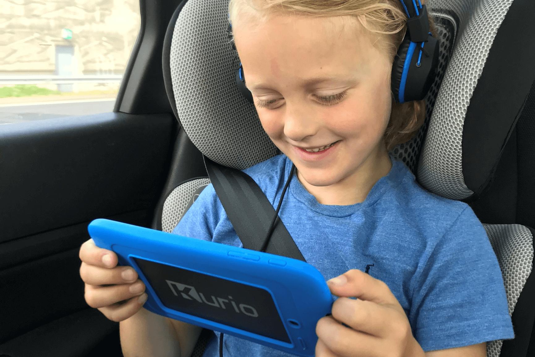 Kurio tablet gebruiken in de auto