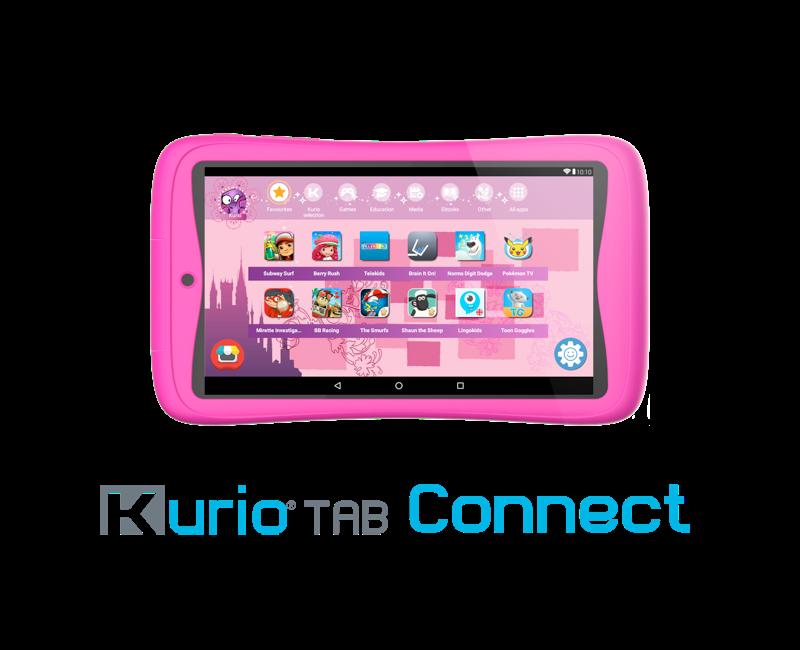 Voorbeeld foto roze kurio tablet