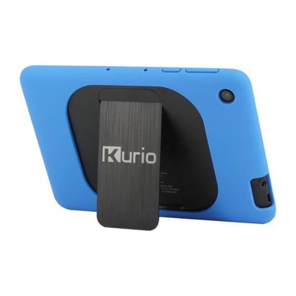 Blauwe kurio tablet achterkant gedraaid